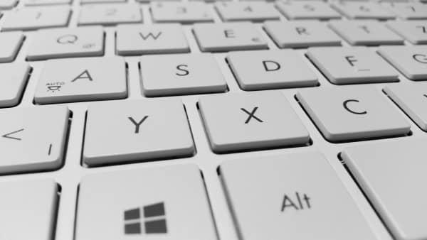 teclado de ordenador portátil